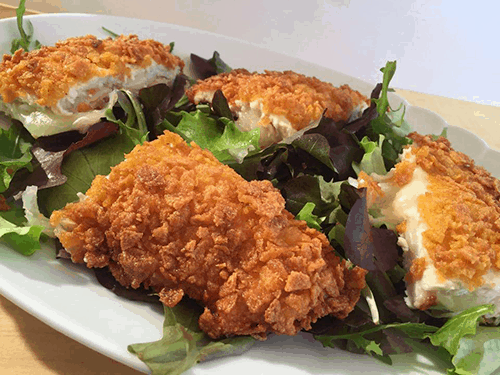 pollo fritto ripieno