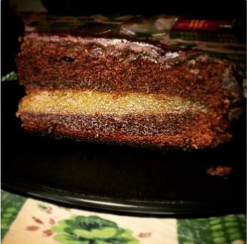 torta sacher con marmellata di zucca